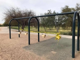 Wednesday, April 1, 2020 – Playground closed. Cave Creek, AZ. Christopher Bartz