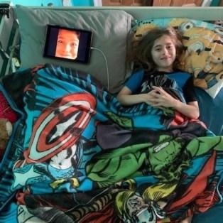 Saturday, April 11, 2020 – Virtual sleepover. New Orleans, LA. Jenny Bagert