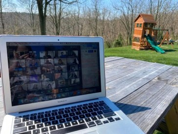 Saturday, April 11, 2020 – Working from home. Frederick, Maryland. Liz Morman