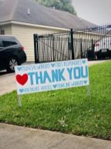 Sunday, April 12, 2020 – Essential workers, first responders, healthcare heroes, frontline workers. Thank you. New Orleans, LA. Stephanie Hepburn
