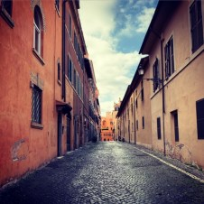 Tuesday, May 5, 2020 – An eerily quiet street in the centre of Rome captured during the last run I took before new regulations came into place, asking us to run in loops of only 200 meters from our homes. Rome, Italy. Lauren Phillips
