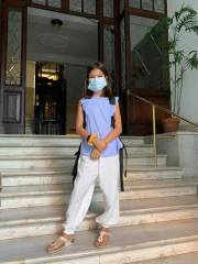 Monday, September 14, 2020 – Back to school in Rome, but with masks and temperature checks at the door! Rome, Italy. Lauren Phillips.