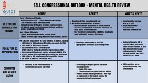 Fall Congressional Outlook - Mental Health Review