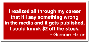Quote from PR Industry expert Graeme Harris