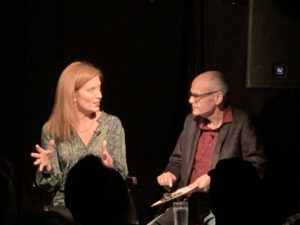 Dr. Andrea Wojnicki and David Shore conduct an interview for Monkeytoast