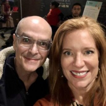 David Shore & Dr. Andrea Wojnicki at the 2019 Hotdocs Podcast Festival
