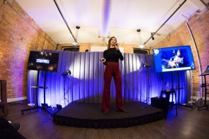 Oksana Andreiuk, onstage sharing biohacking tips