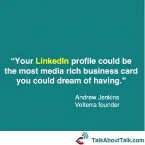 LinkedIn profile quote Andrew Jenkins