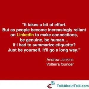 Andrew Jenkins quote - LinkedIn profile