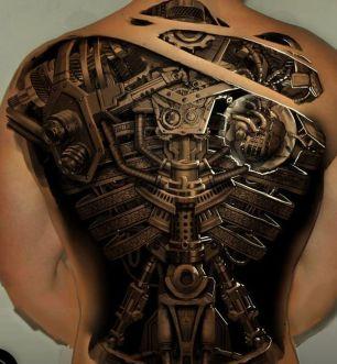 tatuagem 3d masculina costas