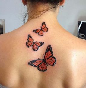 tattoo borboleta costas