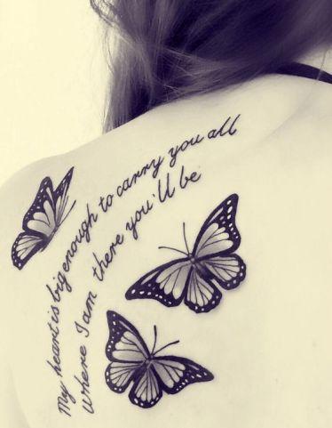 tattoo borboleta peb lettering