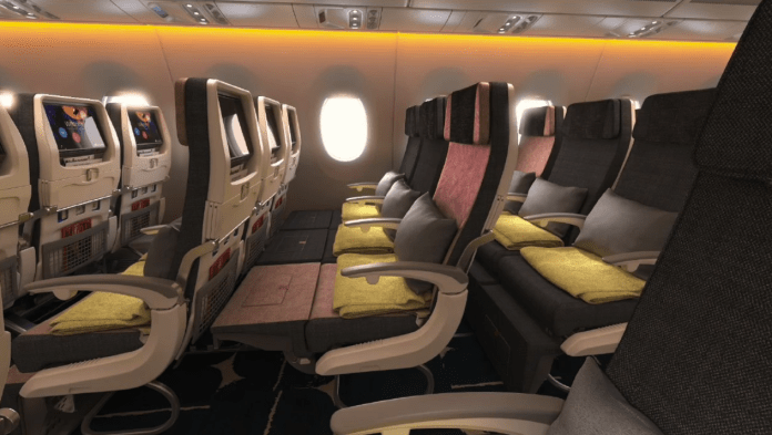 Family Couch (Economy Class) on China Airlines Airbus A350-900XWB