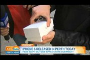 First iPhone 6 Sold in Perth gets drop on the floor by a teenager / Kid
