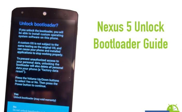 Nexus 5 Unlock Bootloader Guide