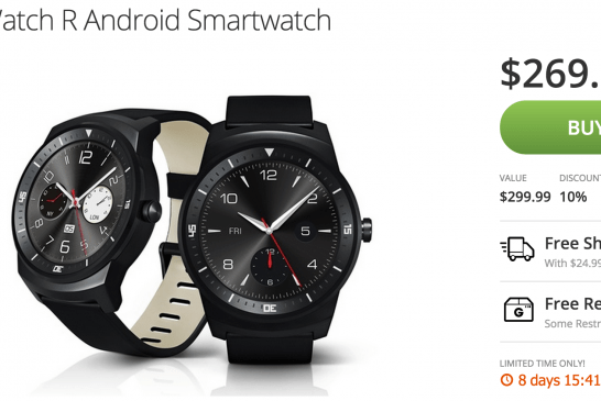 Deal: LG G Watch R *NEW * for only $269 on Groupon