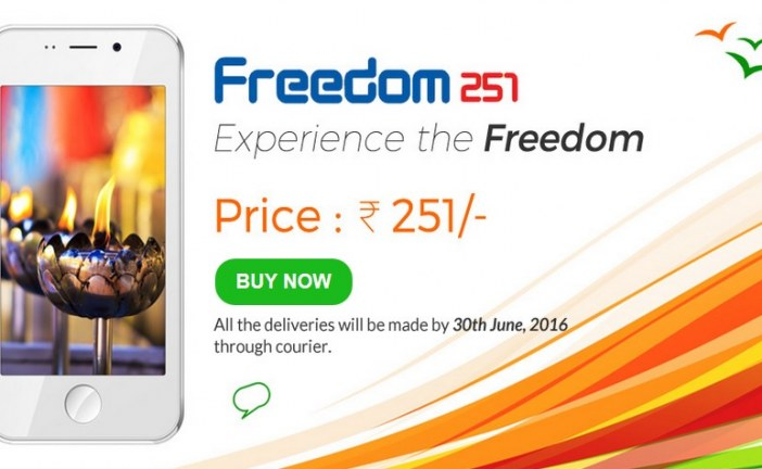 Freedom 251 Introduces World's Cheapest Smartphone at 4 Dollars