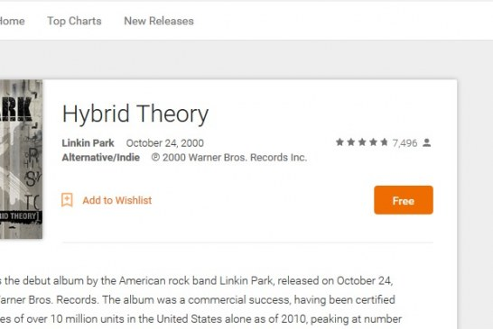 Deal Alert: Linkin Park Hybrid Theory Free and other $1 Albums on Google Play