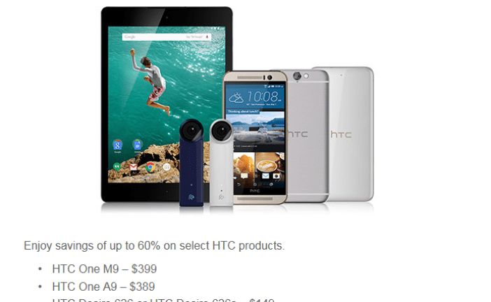 [Deal Alert] HTC brings back Hot Deals with up to 60% off  including the Nexus 9 & The One M9