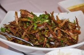 Karari Bhindi - Crispy okra salad