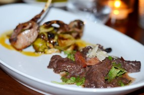 Lamb and beef dishes at Cotto