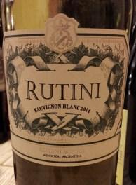 Rutini Sauvignon Blanc Argentina