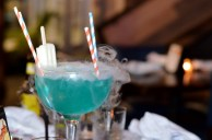 Blue Tidal Wave cocktail at the Sign of the Whale