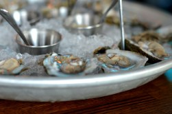 Seafood Tower - local oysters at the Sign of the Whale