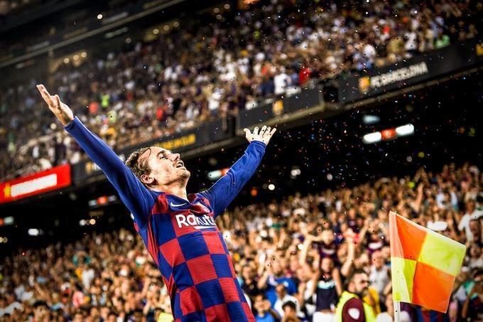 Griemann Megical Goal Celebration At Camp Nou - FC Barcelona vs Real Betis