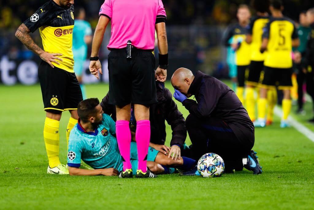 Dortmund vs Barcelona [0-0] Jordi Alba Injury - Champions League 19-20