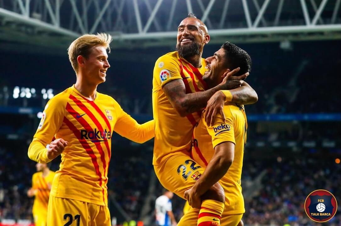 Espanyol vs Barcelona [2-2] Vidal Suarez Goal - La Liga 2019-20