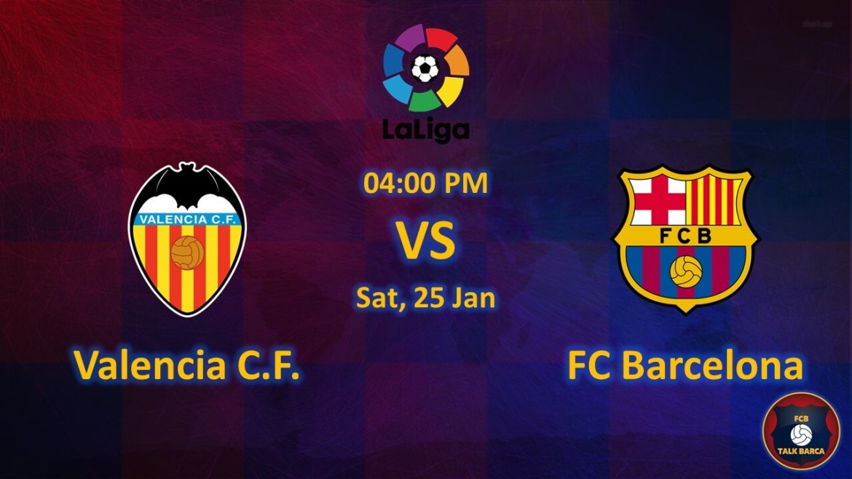 Valencia vs Barcelona January Preview - La Liga 2019-20