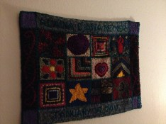 Birth rug on my bedroom's wall.