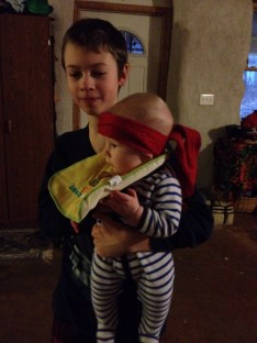 Getting in on the sibling LARPing as a Ninjababy.