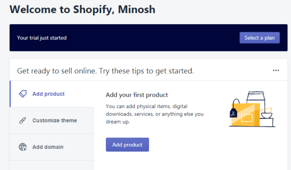Shopify Admin Screen