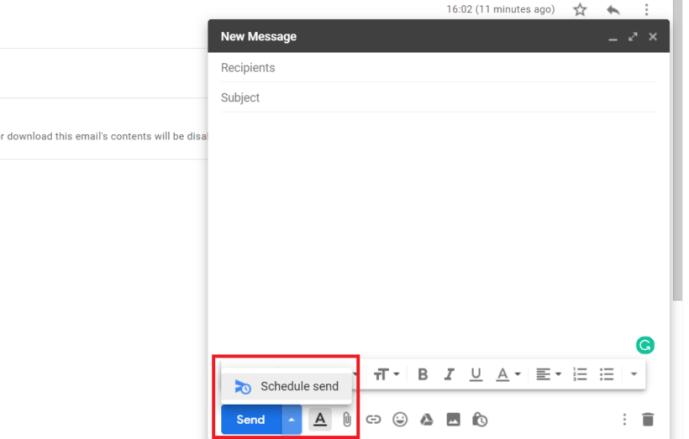 Scheduling Emails