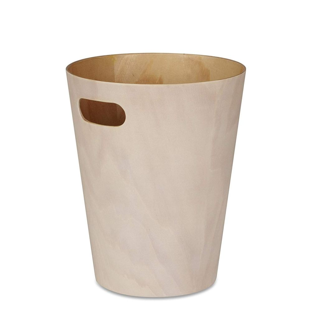 Modern Wooden Trash Can