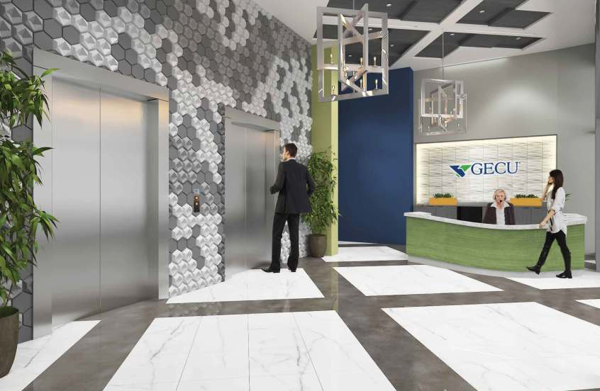 GECU Ops Expansion Lobby