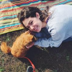Me and a tiny dog!