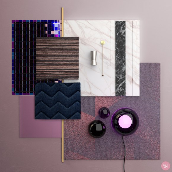 Talk Carpet purple mood board