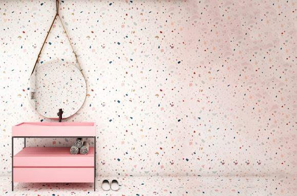 terrazzo mood board, 360° terrazzo interior sets a happy and warm tone