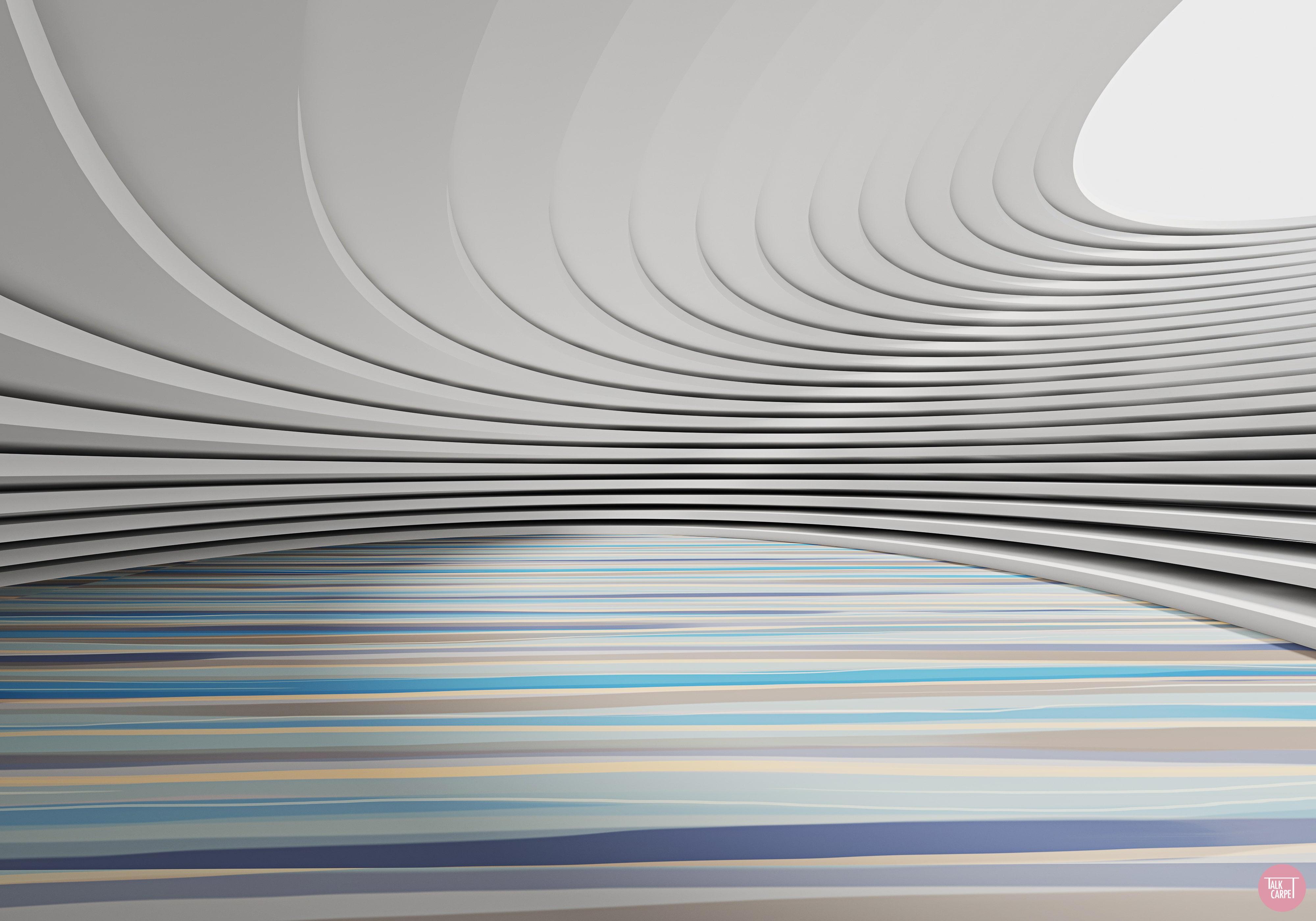 Organic linear carpet