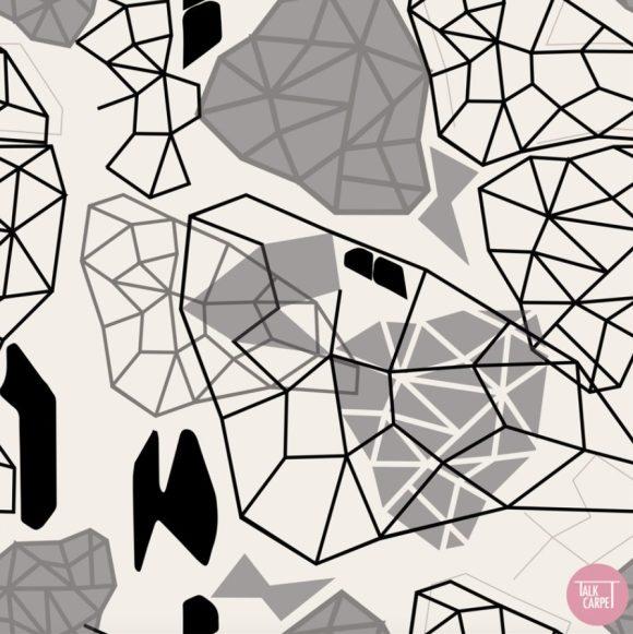 custom carpet, Custom pattern inspired by butterfly wings
