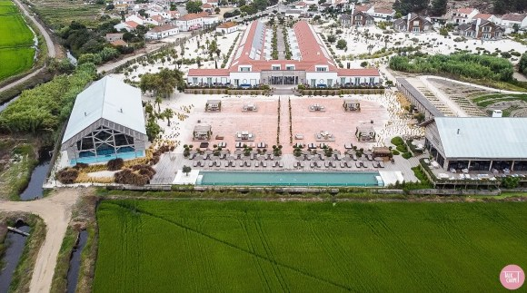 boho chic hotel, Rice farm transformed into boho chic hotel