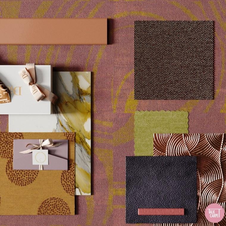 Talk Carpet Dior Christmas window display moodboard