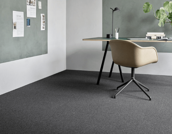 , Una Brick Ecotrust is an affordable flat weave carpet tile for workplace