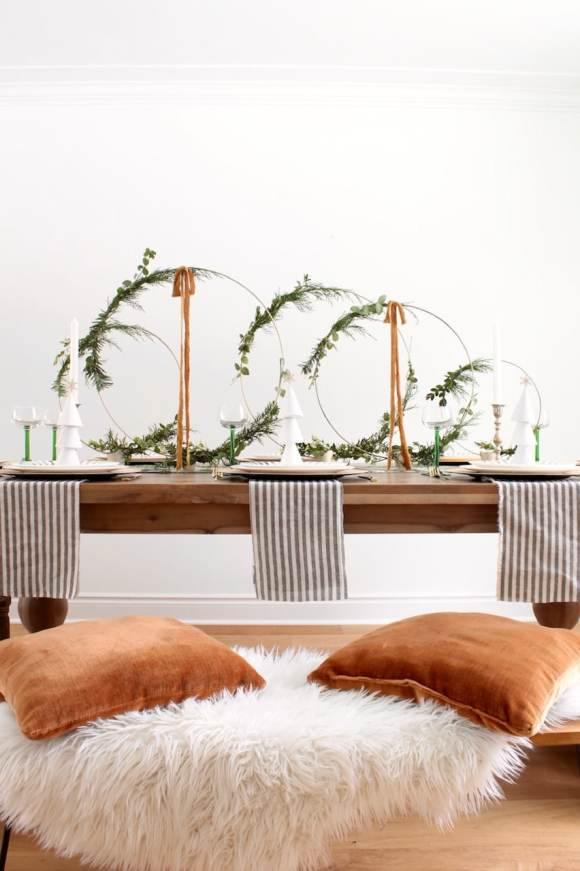 christmas setting mood board, Inspired by a minimal, fall colored Christmas setting