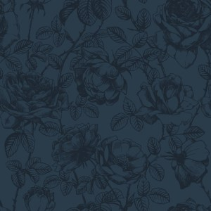 rose etching  blue