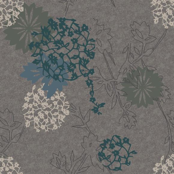 botanic collage  grey