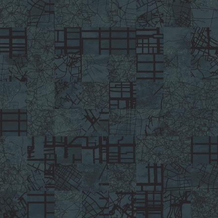 aerial map  dark blue